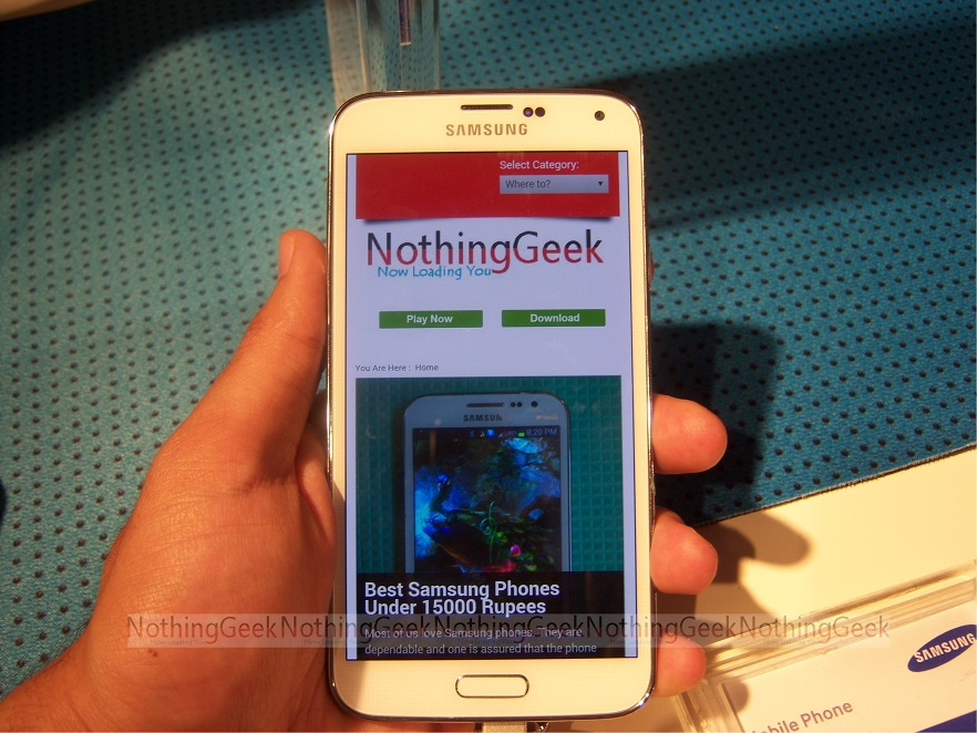 Waterproof Samsung Galaxy S5 Launched India